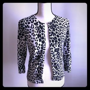 Animal print cardigan at a great price